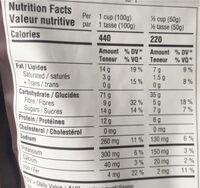 Gourmet Granola Nature - Nutrition facts - fr