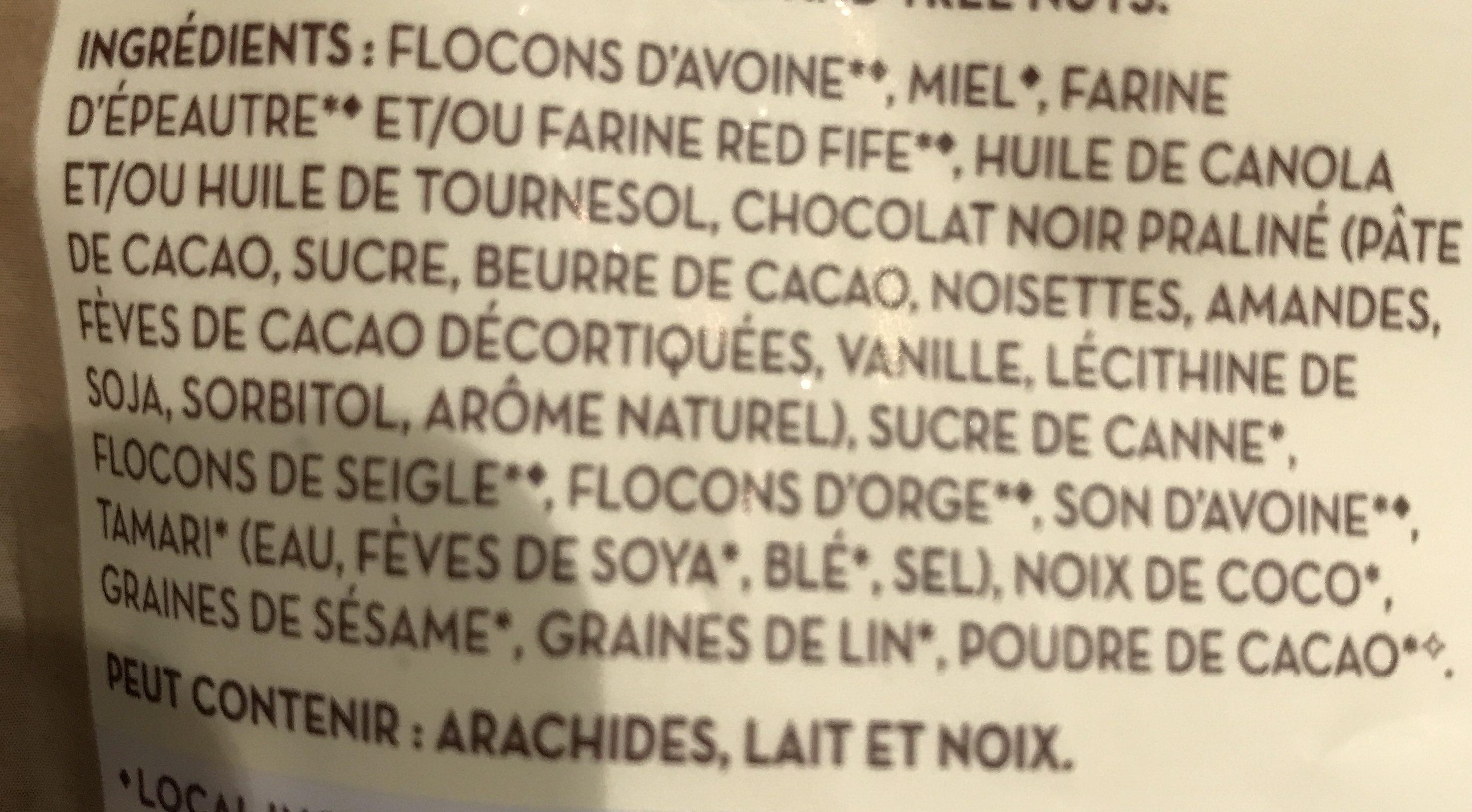 Gourmet Granola Mélange Chocolatier - Ingredients