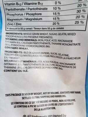 Baluchons de blé sucrés - Ingrédients - fr