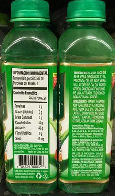 Okf Aloe Vera King Natural, Original - Nutrition facts