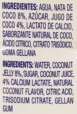 Coconut Drink Coco Pure Premium - Ingrédients - es