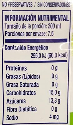 Coco Pure Premium - Nutrition facts
