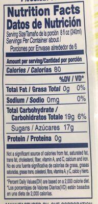 Coconut Drink Coco Pure Premium - Informations nutritionnelles - es