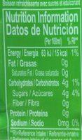 Aloe Vera Drink - Nutrition facts - fr