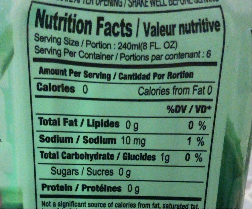 Bebida Original 1.5LT Okf - Nutrition facts - fr