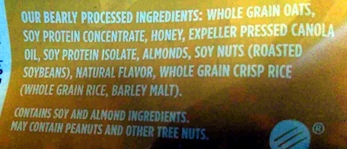 Granola, honey almond - Ingrediënten - en