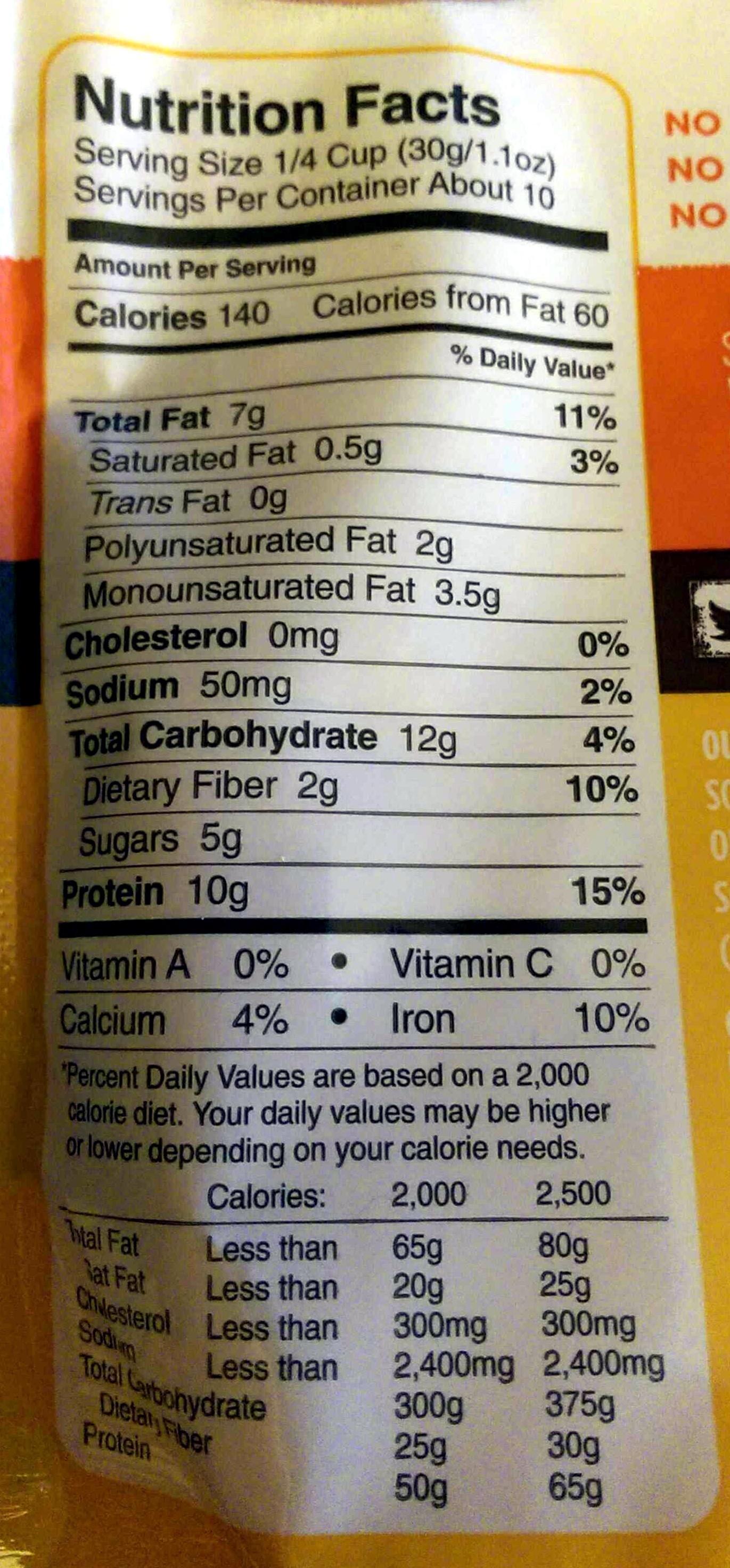 Honey Almond Granola - Nutrition facts