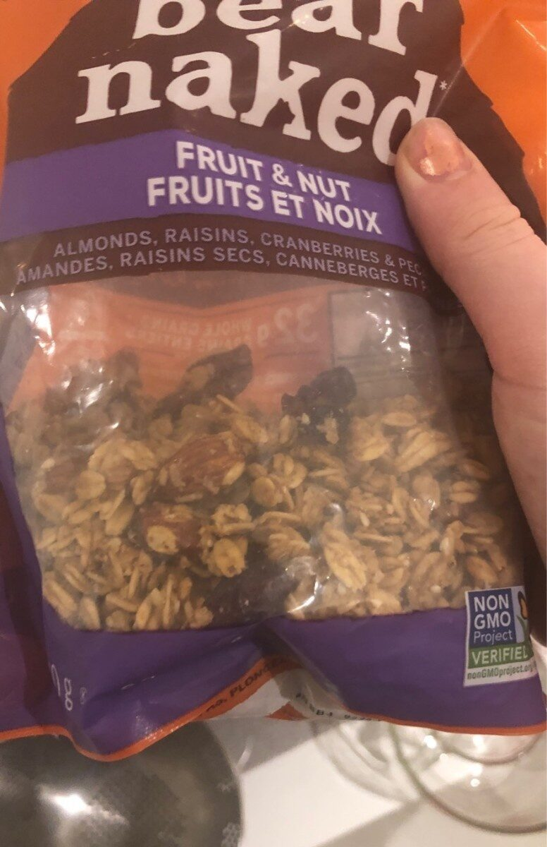 fruits and nuts - Nutrition facts - fr