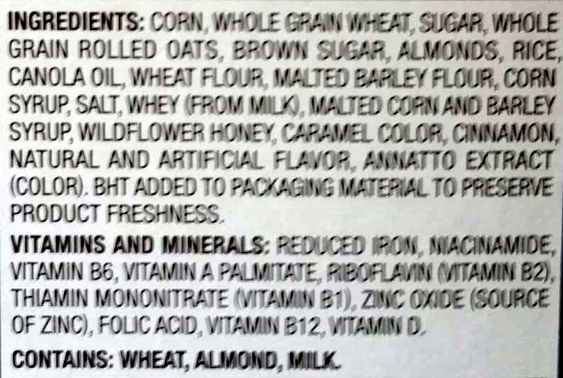 Honey Bunches of Oats - Ingredients