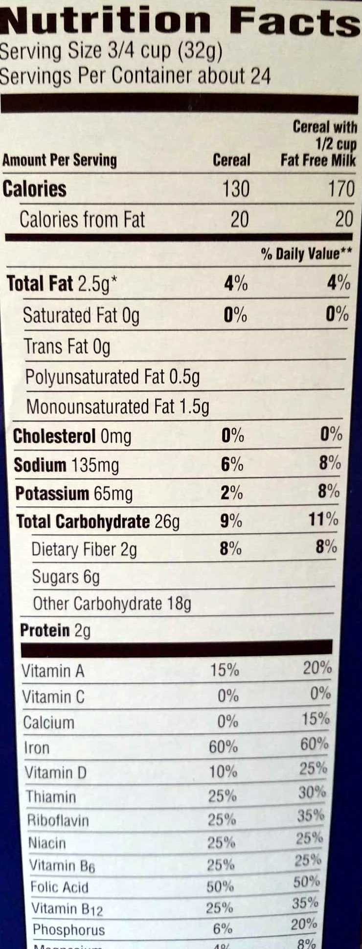 Honey Bunches Of Oats Nutrition Label 47755 | IMGFLASH