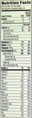 Cereal - Nutrition facts - en