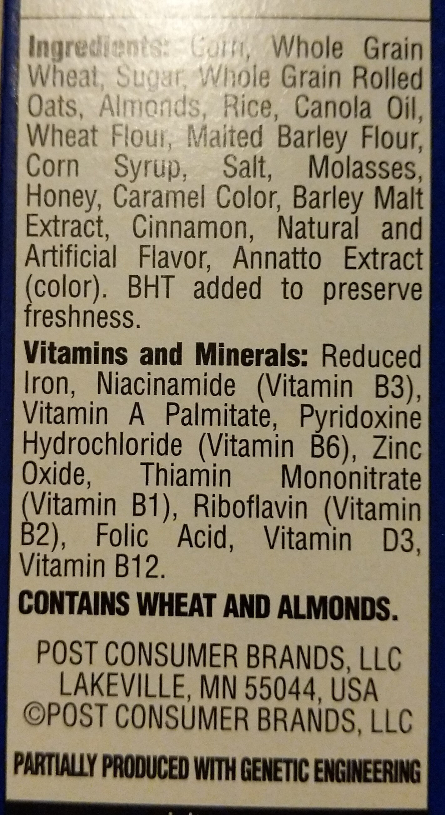 Cereal with Almonds - Ingredients