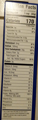 Cereal with Almonds - Nutrition facts
