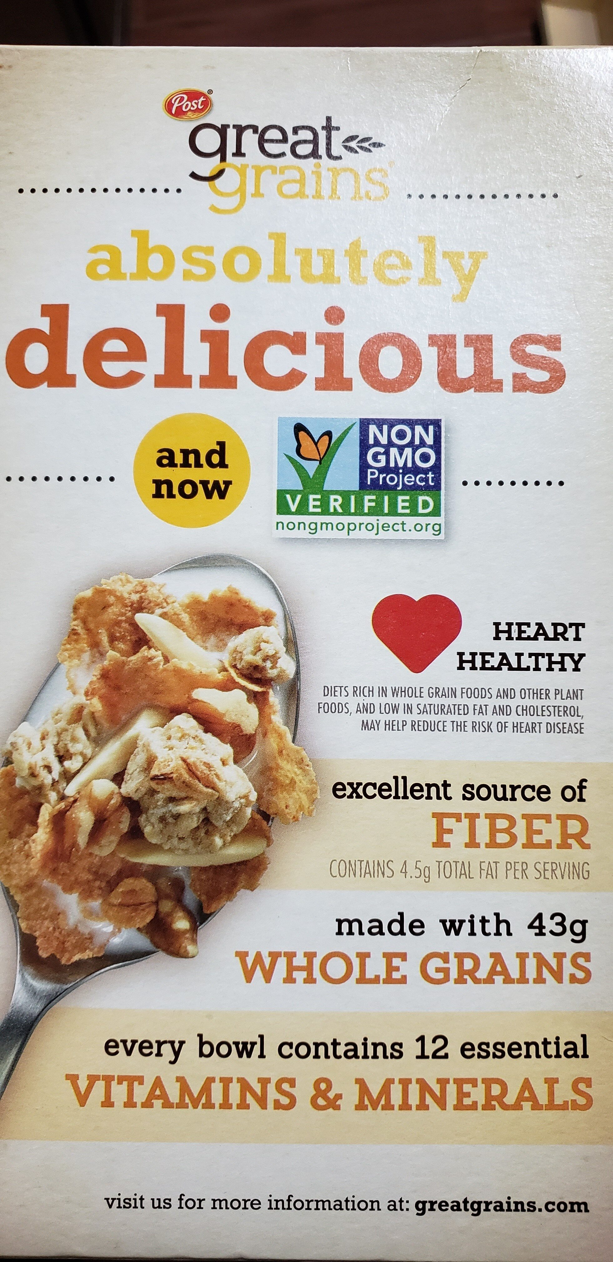 Great Grains, Whole Grain Cereal, Banana Nut Crunch - Product