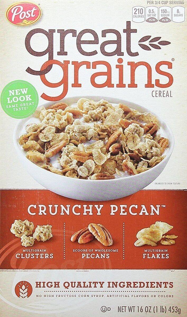 Post crunchy pecan whole grain cereal - Product - en