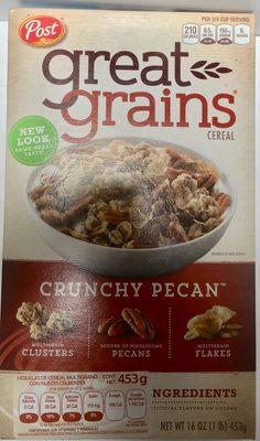 Post crunchy pecan whole grain cereal - Producto - es