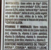 Post crunchy pecan whole grain cereal - Ingredientes - es
