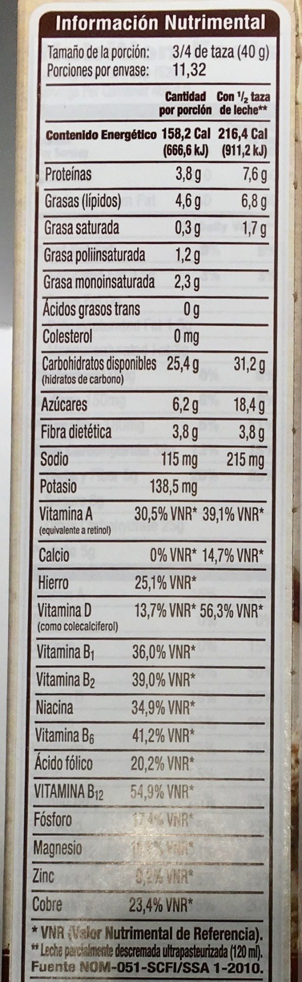 Great Grains, Whole Grain Cereal, Crunchy Pecans - Nutrition facts