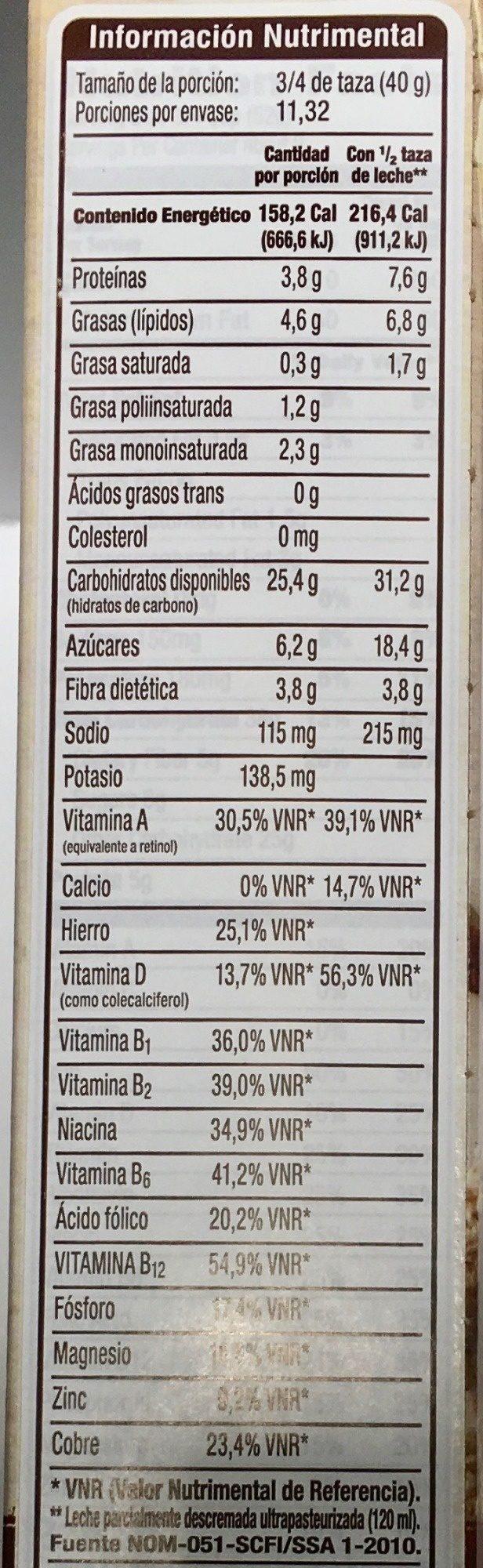 Post crunchy pecan whole grain cereal - Información nutricional - es