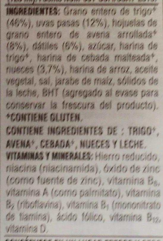 Post raisins - Ingredientes - es