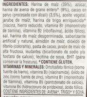 Cereal - Ingredientes - es