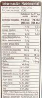 Cereal - Información nutricional - es