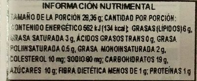 Mrs. Fields - Nutrition facts