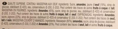 Mazapanes - Ingrédients - fr
