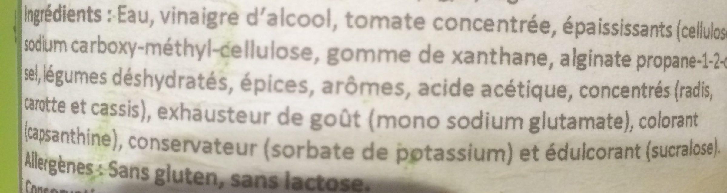Sauce Bolognaise Italienne Care Free - Ingrédients
