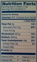 Golden sponge cake with creamy filling - Nutrition facts - en
