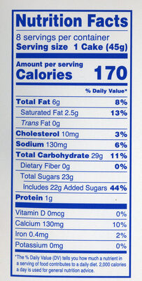 Iced pumpkin cake with creamy filling cupcakes, pumpkin - Nutrition facts - en