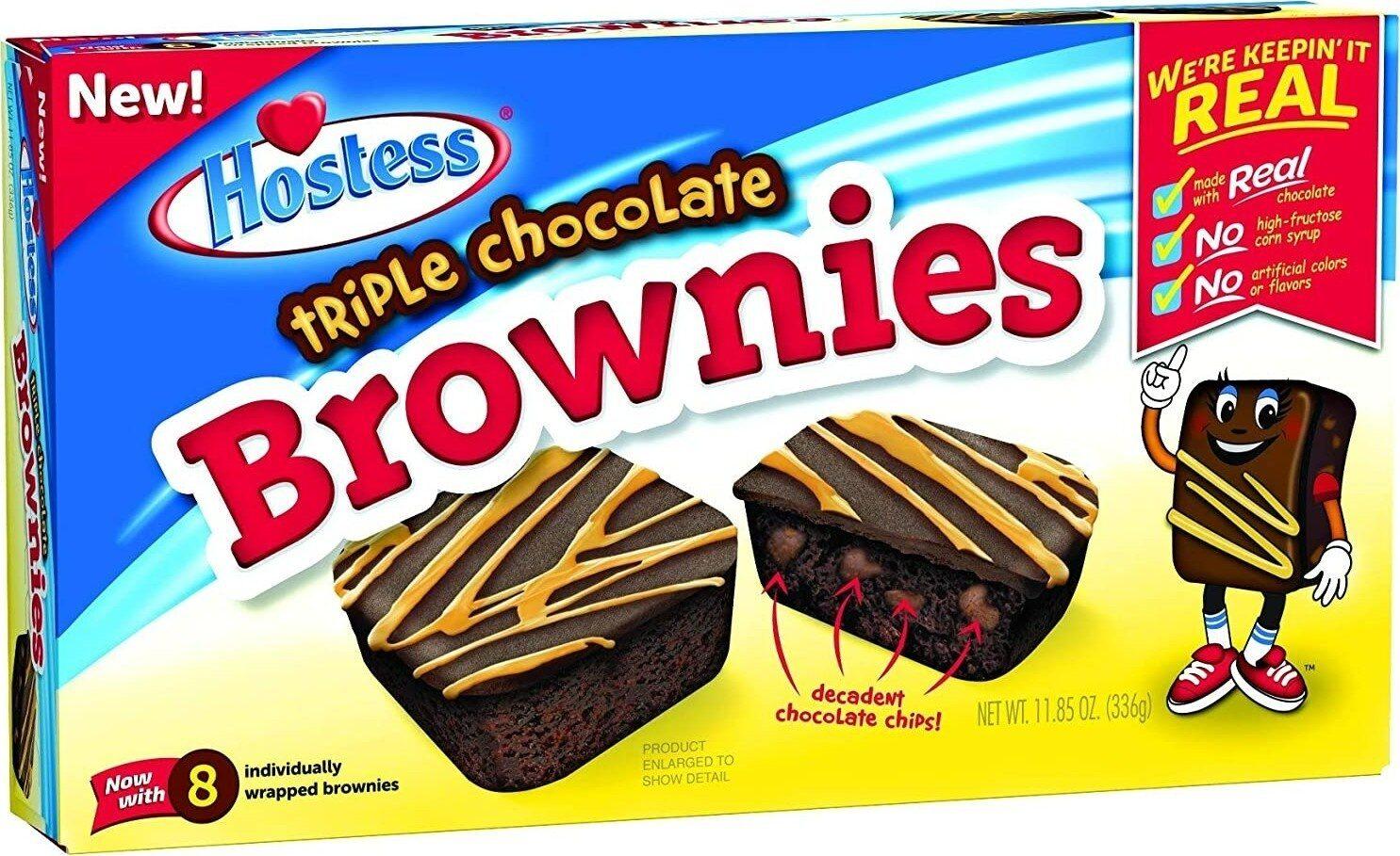 Triple chocolate brownies ounce - Product - en