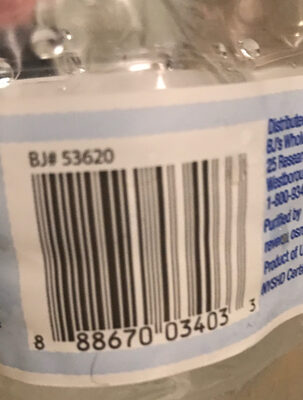 Wellsley farms purified water - Ingredients