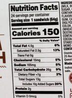 Vanilla ice cream sandwich - Nutrition facts - en