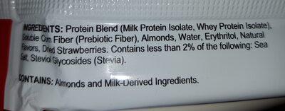 Quest Bar Protein Riegel , Strawberry Cheese Cake - Ingrédients