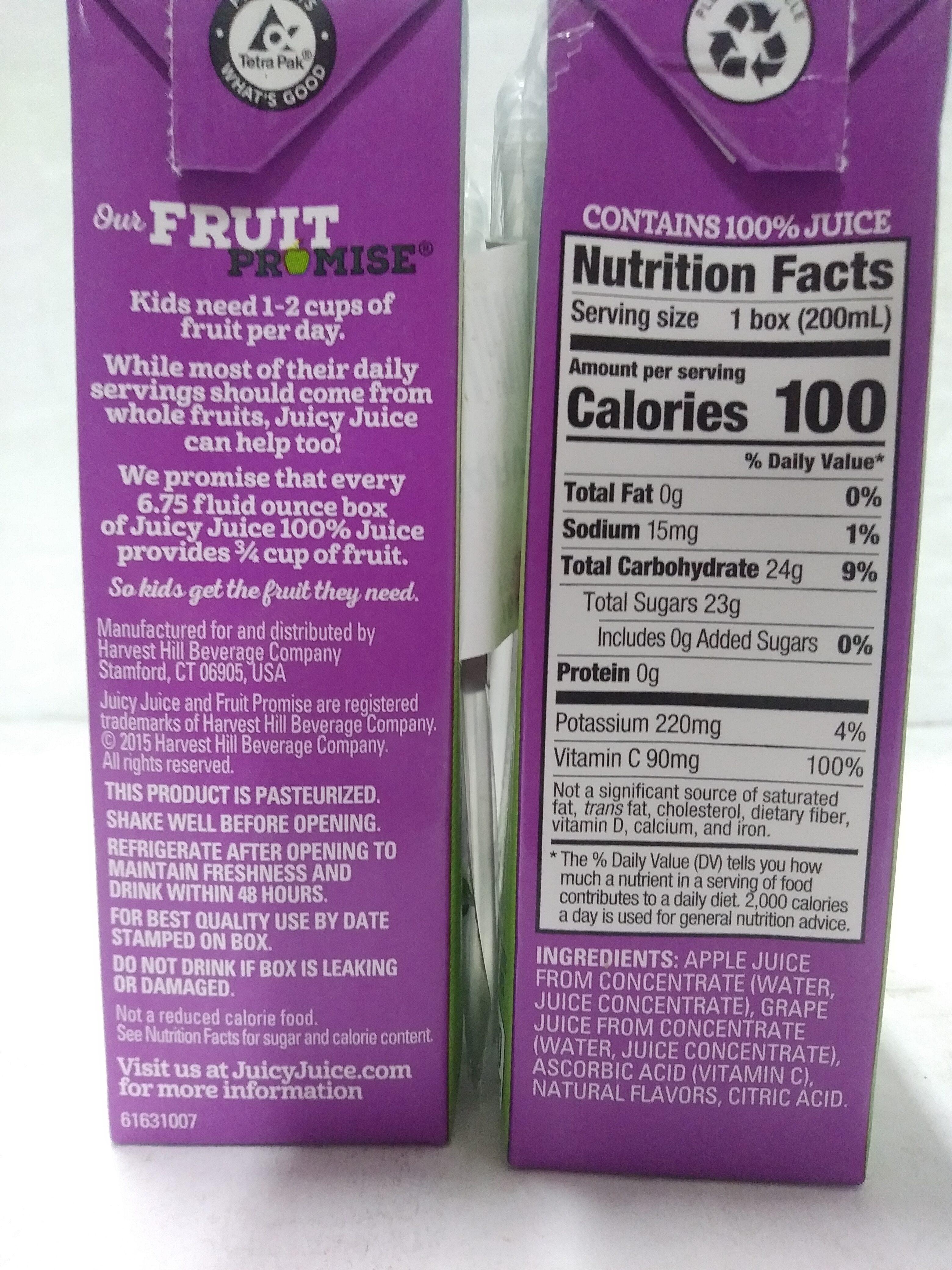 Grape Juice from Concentrate - Valori nutrizionali - en