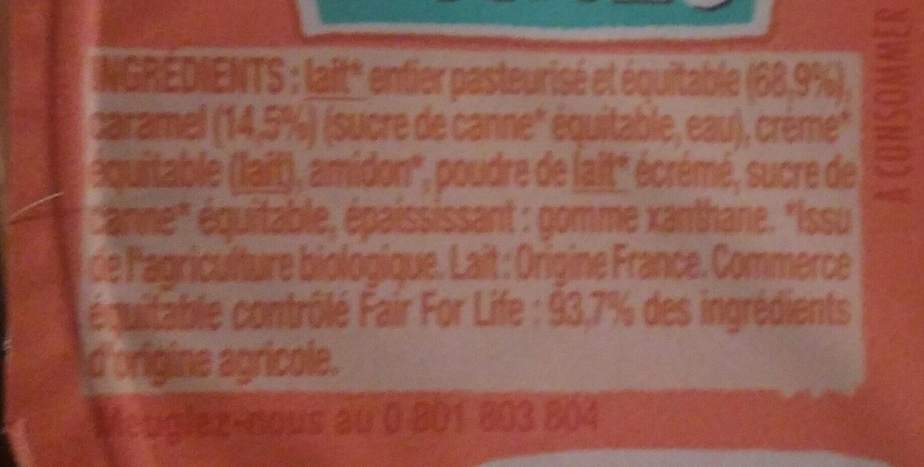 Crèmeuh caramel - Ingrediënten - fr