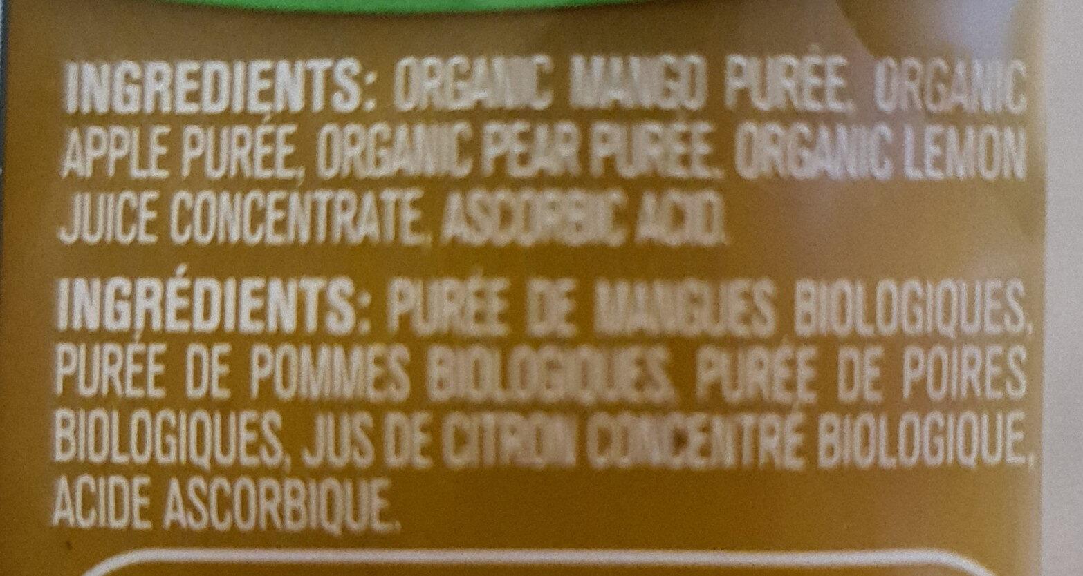Mango Apple Pear purée - Ingrédients - en