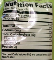 GoGo Squeez Apple Apple - Nutrition facts