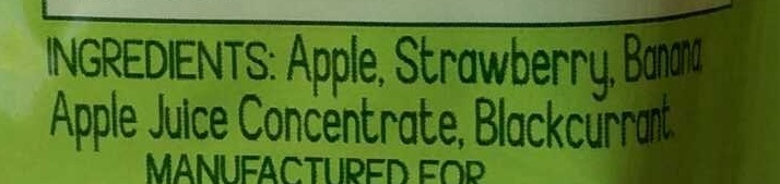 GoGo Squeez Apple Strawberry - Ingredients