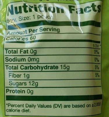 GoGo Squeez Apple Strawberry - Nutrition facts