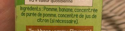 Compote De Pomme Et Banane - Ingrediënten