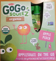 Organic applesauce on the go - Product - en