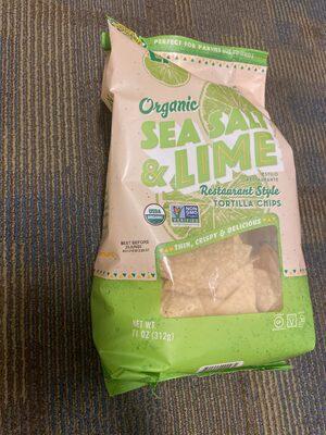Sea salt & lime organic restaurant style tortilla chips - Product - en