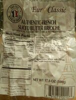 Authentic french sliced butter brioche - Product