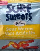Surf Sweets Sour Worms - Produit - fr
