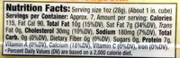 Sharp cheddar cheese - Nutrition facts - en