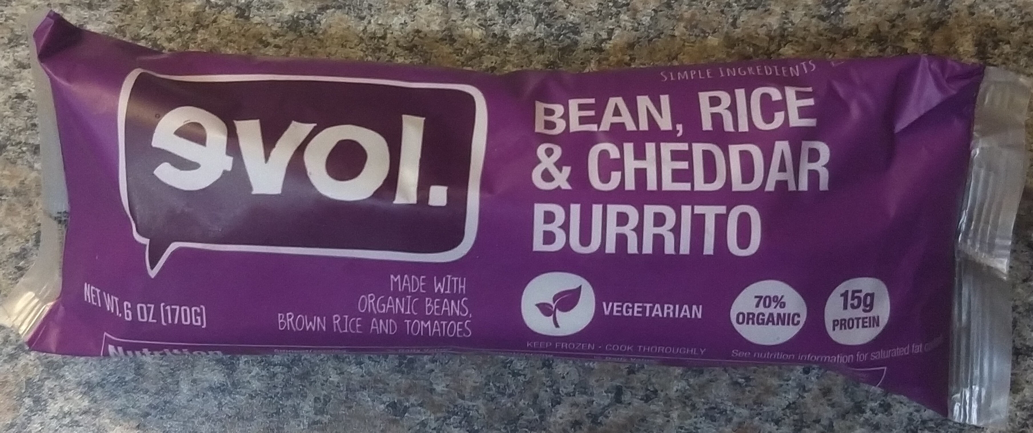 Bean, Rice & Cheddar Burrito - Product - en