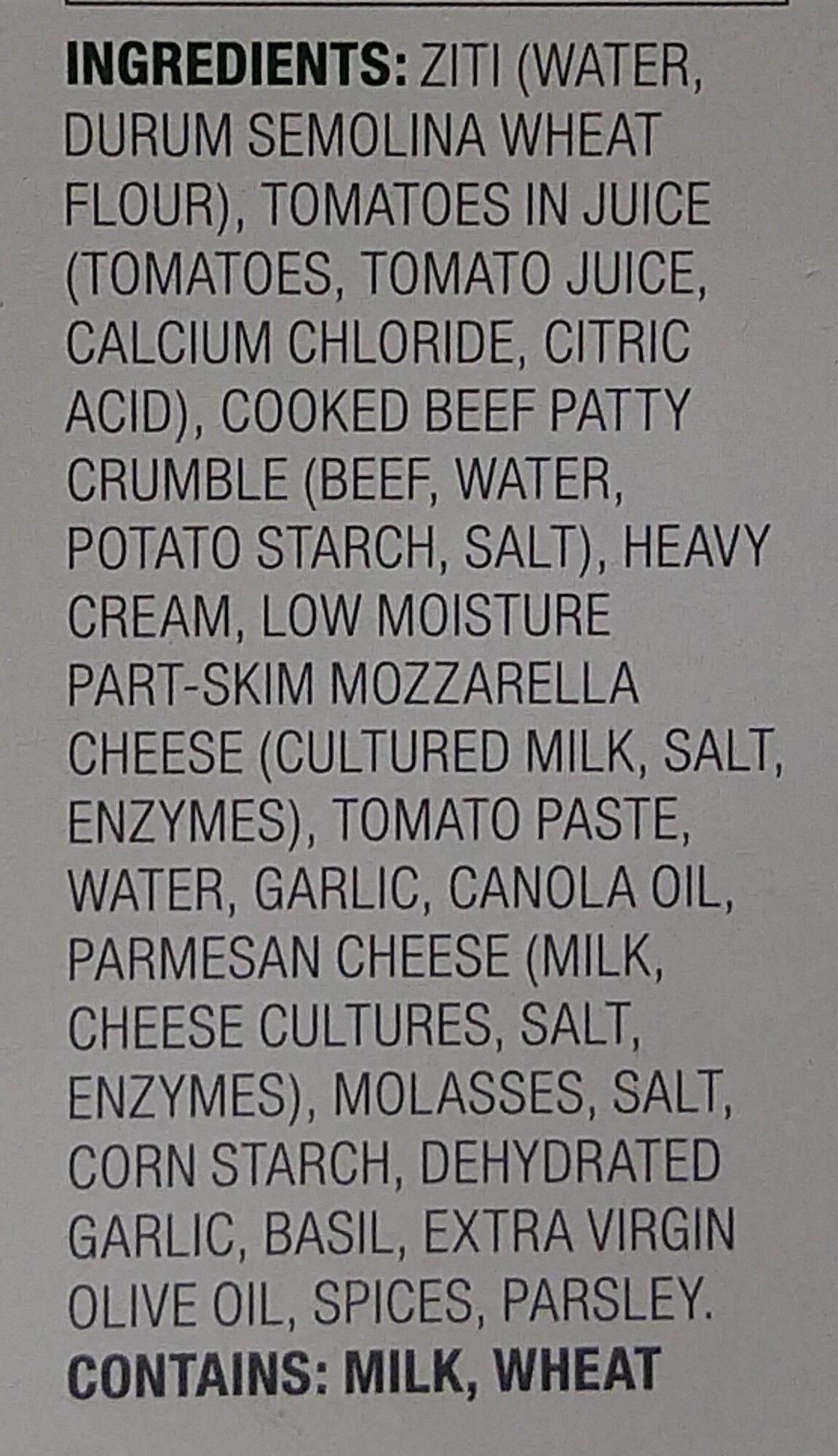 Evol, ziti & meat sauce - Ingredients - en