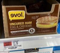 Uncured ham, egg & cheddar - Product - en
